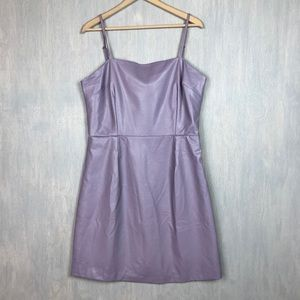 NWT Unique 21 Hero purple faux leather dress 14